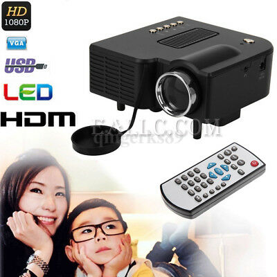 UC28+ 3000Lumens LCD LED VIDEO Projector AV/VGA/USB/HDMI Multimedia Home Theater