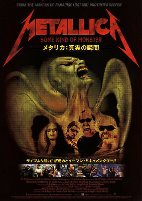 Metallica Some Kind of Monster - Original Japanese Chirashi Mini Poster