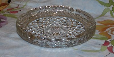 Anchor Hocking Wexford Glass Large 8.25 in. Ashtray Excellent!