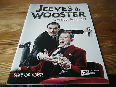 2014  Theatre  Programme  - Jeeves And Wooster In Perfect Nonsense -Duke Of York