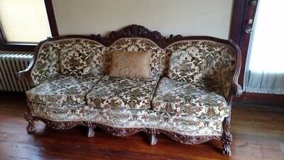 Antique Sofa, Victorian Style Couch, Reproduction