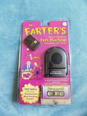 Remote Controlled Fart Machine And Audio Cassette New Sealed Vintage