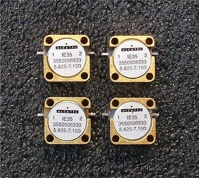 Quantity 4  -  Microwave RF Isolators  -  5.825 GHz to 7.150 GHz  -  Gold Plated