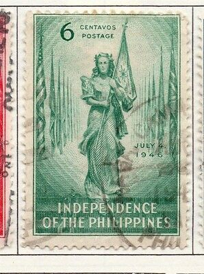Philippines 1946-49 Early Issue Fine Used 6c. 172984