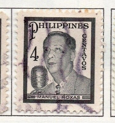 Philippines 1947-49 Early Issue Fine Used 4c. 173005