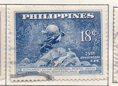 Philippines 1947-49 Early Issue Fine Used 18c. 173010