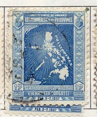 Philippines 1936-43 Early Issue Fine Used 12c. 173048