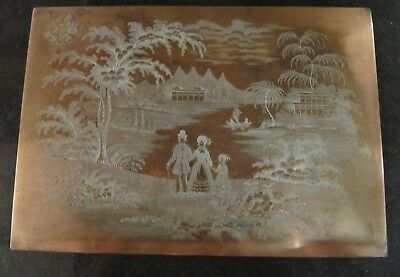 Antique Copper Printing Plate Masons China Eton College original