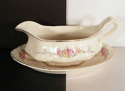 WS George Laura Lee 30936 Gravy Sauce Boat with Relish Underplate Radisson Shape