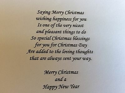 10 Pk of CHRISTMAS BLESSINGS White Card Inserts A4  for making A5 Cards