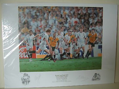 Peter Cornwell, Rugby World Cup Final 2003 Print Signed Jason Robinson Neil Back
