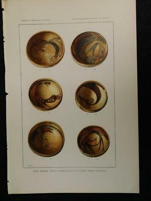 Southwestern Pottery Prints Arizona 1895 Bureau of Am Ethnology Sikyatki 25 Blu6