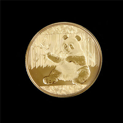 1x Gold-Plated Panda Baobao Commemorative Challenge Coin Collectible Gift S6