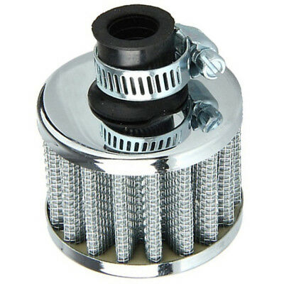 Car Motor Cold Air Intake Filter Turbo Vent Crankcase Breather Silv O4T7