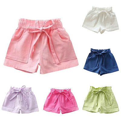 Lovely Baby Toddler Girls Summer Beach Shorts Kids Bowknot Shorts Pants Trousers