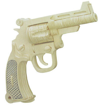 Woodcraft Construction Kit Wooden Gun Model Puzzle Toy for Childr T2D8