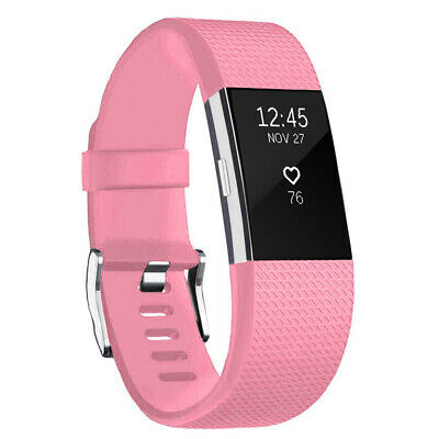 For Fitbit Charge 2 Band Bracelet Strap Replacement Silicone Large Light Pink