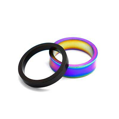 TLC BIKES 5mm and 10mm Alloy BMX Headset Spacers - Black, Rainbow, Oilslick