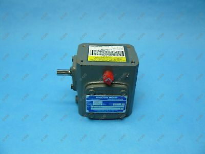 """Boston Gear 710-15-G Right Angle Gear Reducer 80:1 Left 0.33 HP 3/8 x 1/2"""" Shaft"""