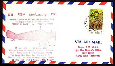50th ANNIVERSARY2ND ATTEMPT TO FLY THE NORTH,FORT SMITH NWT, MAJOR MALOTT(K2430)