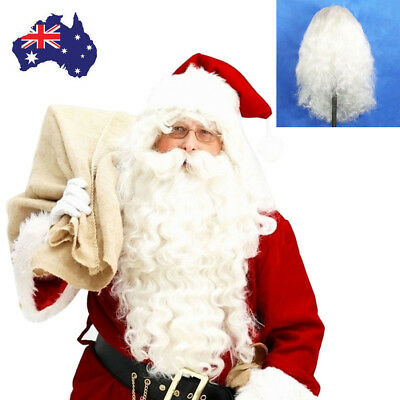 Christmas Santa Claus Wig + Curly Beard Set Costume Accessory Adult Fancy Dress