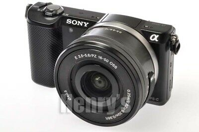 SONY ALPHA A5000 DIGITAL BODY 20.1MP w/E PZ 16-50mm OSS LENS/BLACK/OPEN BOX