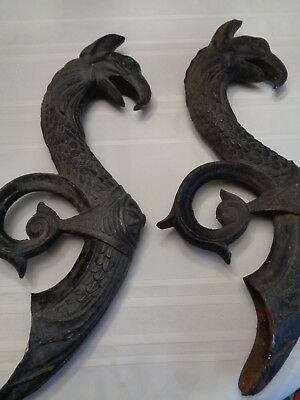 Matching Cast Iron Architectural Griffens