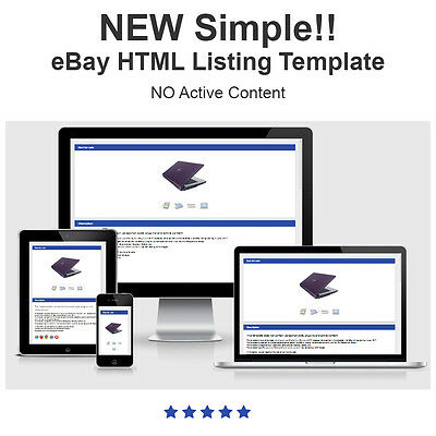 Simple Responsive eBay Listing Template - New