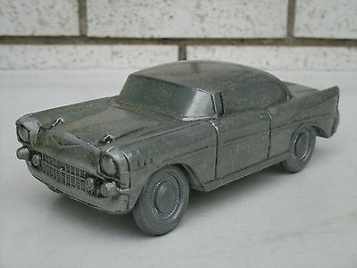 Vintage Banthrico 1957 Chevrolet Pewter Coin Bank, 1974