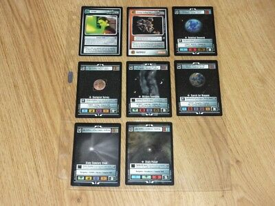 Star Trek CCG Starter Deck II Full Set 8 Special Cards in Sleeve - BB - NM to MT