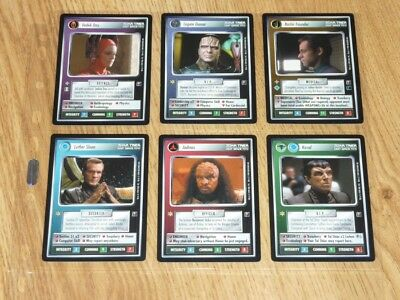 Star Trek CCG Second Anthology - Full Set 6 Premium Cards - BB - NM-MT to MT