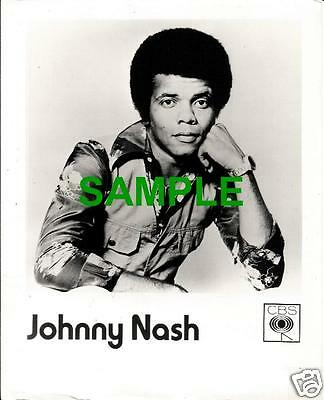 Original 1976 Cbs Promotion Photo - Johnny Nash