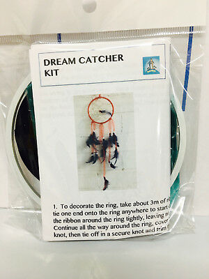 Dream Catcher Kit - DIY Black & Turquoise Craft/Birthday Kids Bead/Feather/Ring