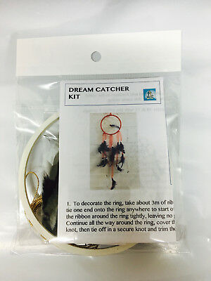 Dream Catcher Kit - DIY White & Black - Craft/Birthday Kids Bead/Feather/Ring