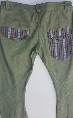 "Vintage Mens Pre-Loved Avocado Green ""chilli's"" By Europe Jeans *size*w34"