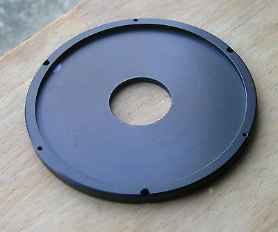 99.25 circular metal plate for  lens board panel with compur 00 26.7mm hole used