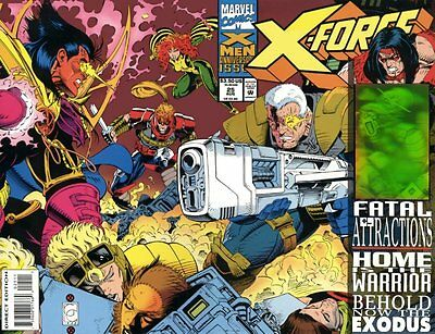 X-FORCE #25 USA. Cable Hologram – Marvel Comics. 1993