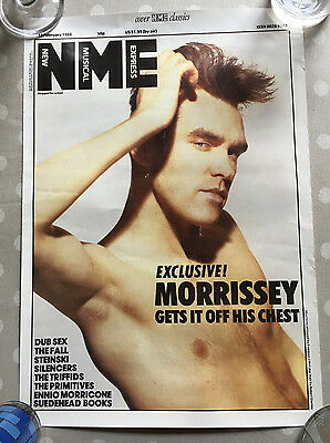 Morrissey NME 1998 Promo Poster The Smiths Suedehead