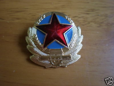 China Voluntary Army Hat Cap Badge,87's series