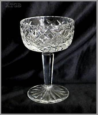 Vintage sparkly crystal comport bowl measuring 14cm tall. In lovely condition