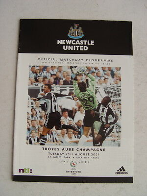 Newcastle United v Troyes Aube Champagne 2001 Intertoto Cup Final