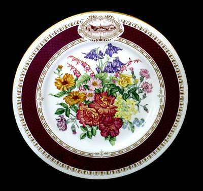 Vintage 1984 Chelsea Flower Show Mary Grierson RHS Minton cabinet display plate.