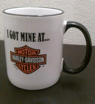 American Harley Davidson Coffee Mug North Tonawanda, NY `I Got Mine At... ``