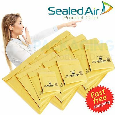 Mail Lite / Lites Padded Bags Envelopes A000 Gold