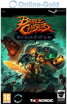 Battle Chasers Nightwar Key - Steam Digital Download Code - PC [Indie][EU/DE]