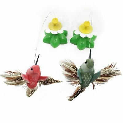 Funny Pet Cat Dog Electric Rotating Butterfly Birds Rod Teaser Playing Toy