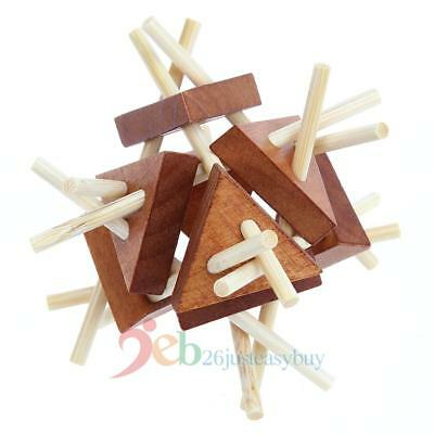Wooden Adults Educational 3D IQ Puzzle Brain Teaser Recreational Kids Toys Gifts