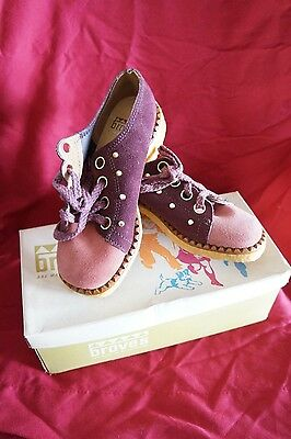 New Vtg  Braves Girls Rose Pink Suede Oxford Brogue Dress Shoes  13 M Canada