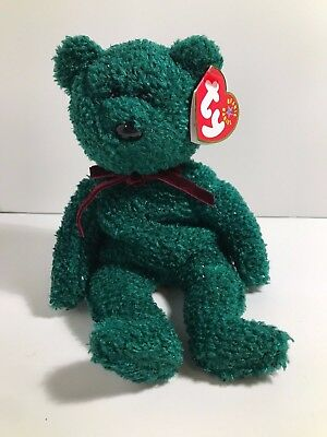 "Ty Beanie Babies Baby ""2001 Holiday Teddy"" w/Tags Excellent Condition"