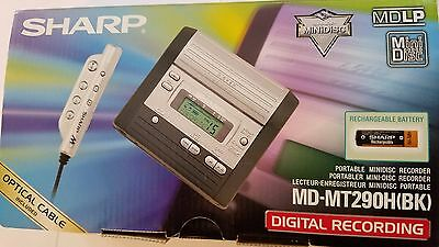BRAND NEW Sharp MiniDisc Recorder MDLP MD-MT290 with Microphone!